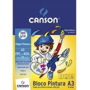 Bloco para Pintura Linha Infantil 300 g/m² A3 297 x 420 mm com 12 Folhas Canson