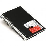 Caderneta Espiralada para Esboço Canson – Art Book One Preto A5 14cm x 21,6 cm 100 g/m²