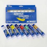 Estojo Tinta Acrílica Acrylic Colors Acrilex com 8 Bisnagas 20ml