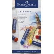 Giz Pastel Oleoso – Creative Studios – Faber-Castell com 12 cores – Ref 127012