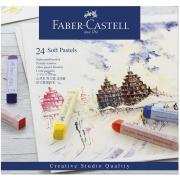 Giz Pastel Seco Longo – Creative Studios – Faber-Castell com 24 cores – Ref 128324
