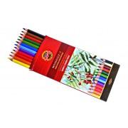 Lápis de Cor Aquarelável Mondeluz 12 Cores Koh-I-Noor - ref. 3716
