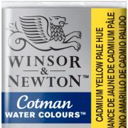 Tinta Aquarela em Pastilha Cotman Winsor & Newton Cadmium Yellow Pale Hue 119