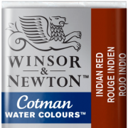 Tinta Aquarela em Pastilha Cotman Winsor & Newton Indian Red 317