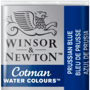 Tinta Aquarela em Pastilha Cotman Winsor & Newton Prussian Blue 538