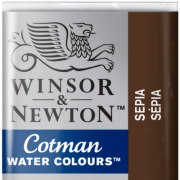 Tinta Aquarela em Pastilha Cotman Winsor & Newton Sepia 609