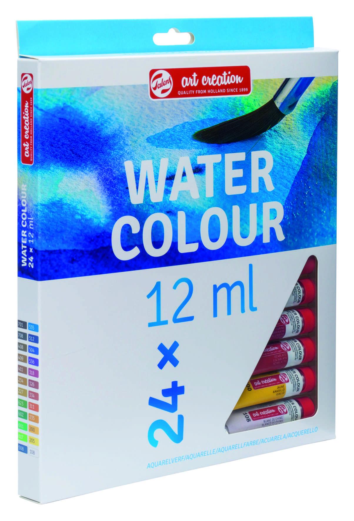 Aquarela Art Creation Royal Talens Tubos 24 Cores de 12ml cada - ref. 9022024