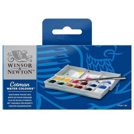 Aquarela Winsor & Newton Cotman Pocket c/ 14 peças ref. 0390640
