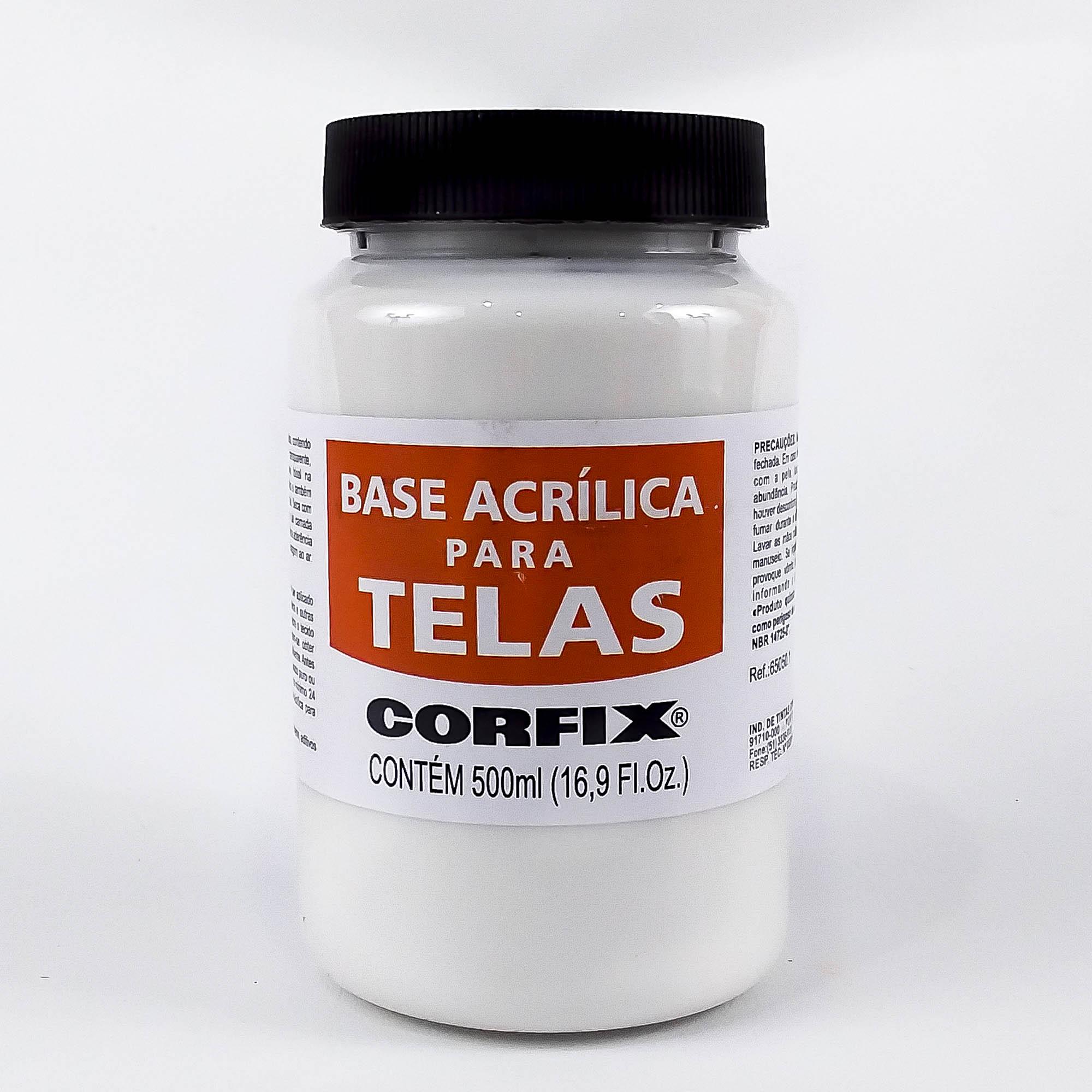 Base Acrílica para Tela 500ml Corfix