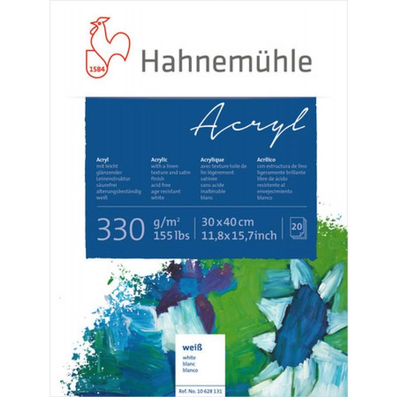 Bloco Acrílica Acryl 330 g/m² 30 x 40 cm com 20 fls. Hahnemuhle