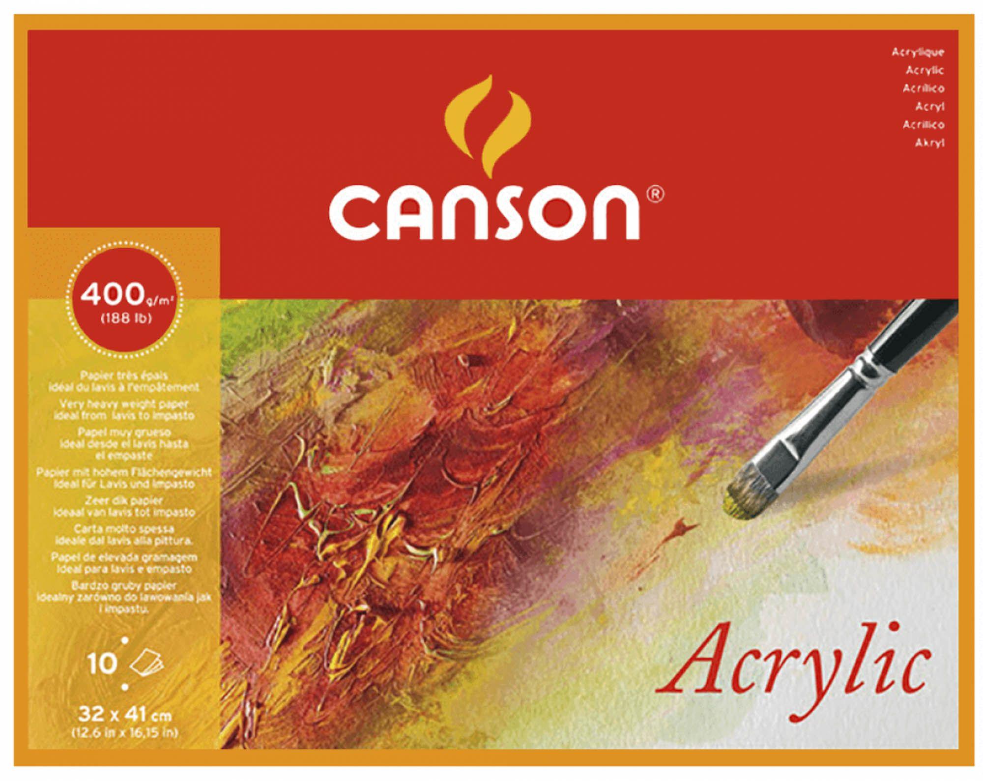 Bloco Canson Acrylic  A3 400g com 10 Folhas