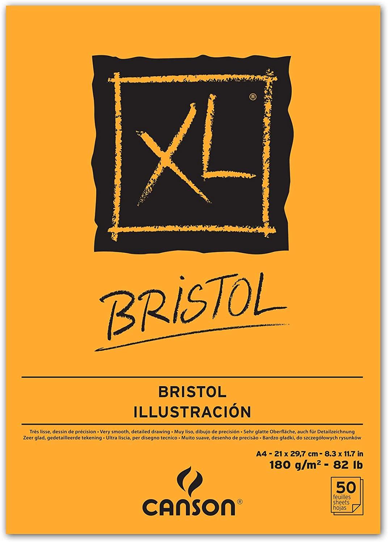 Bloco Canson XL Bristol A4 180g/m² com 50 folhas