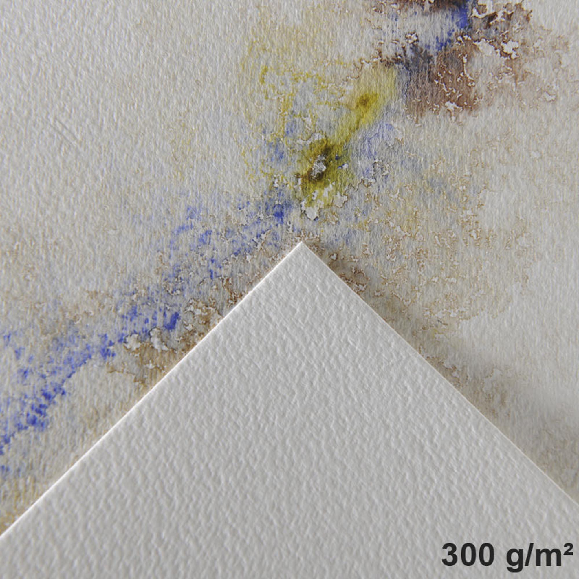 Bloco de Papel Aquarela Canson - Montval Textura Fina 300g/m² A4 24x32 cm com 12 Folhas
