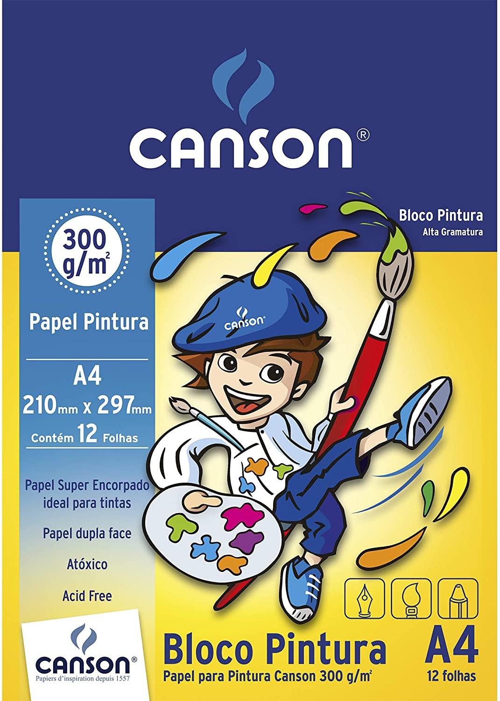 Bloco para Pintura Linha Infantil 300 g/m² A4 210 x 297 mm com 12 Folhas Canson
