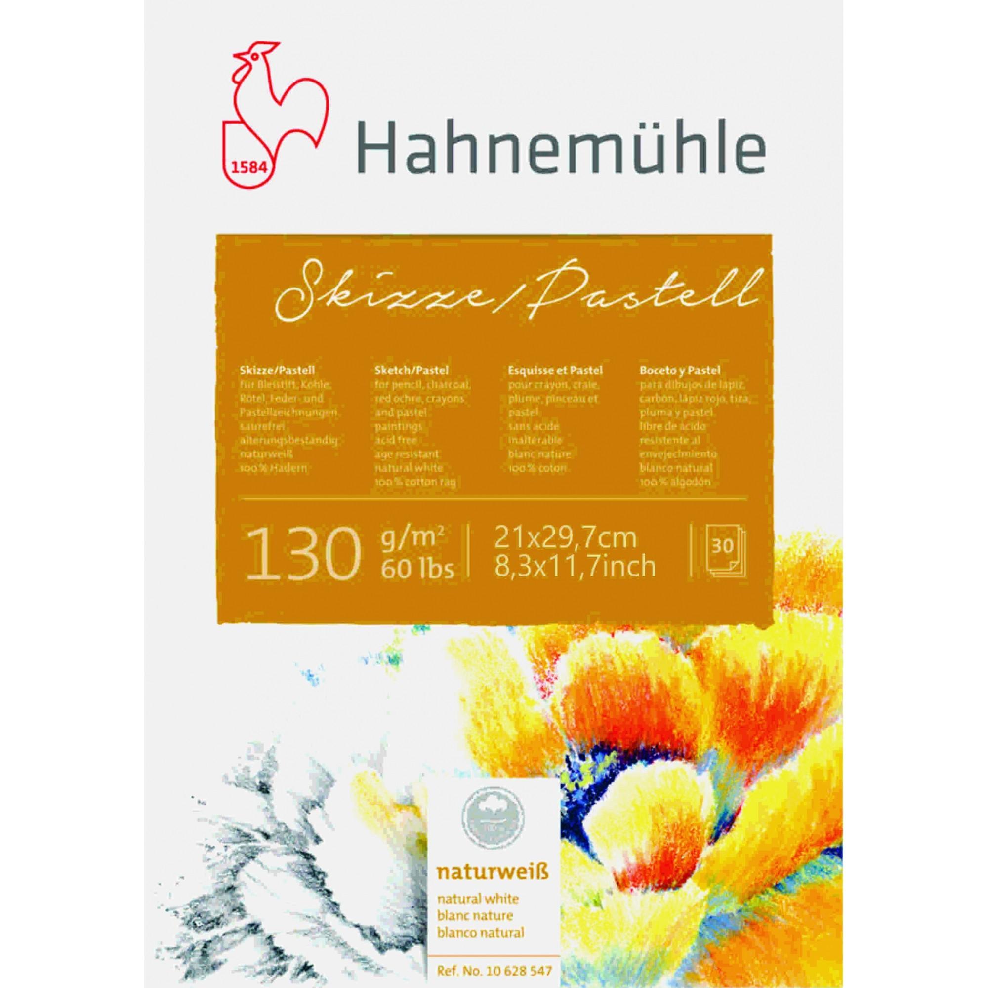 Bloco Skizze/Pastell A4 130g 30fls Hahnemuhle