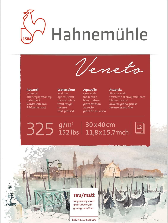 Bloco Veneto 325 g/m² para aquarela 30 x 40 cm Hahnemuhle
