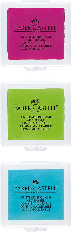 Borracha Artística Faber-Castell Maleável e Colorida - Ref 127321