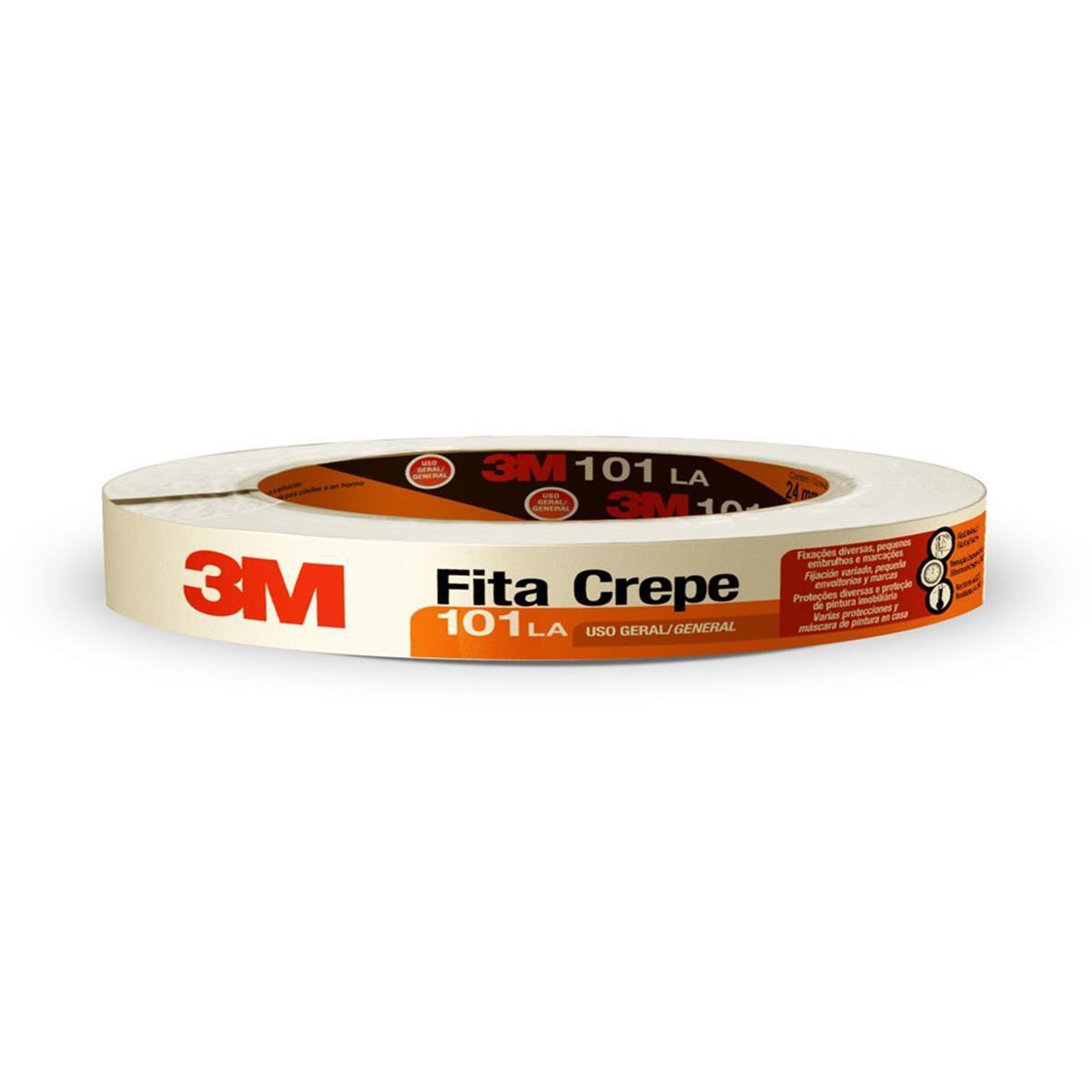 Fita Crepe 3M101LA - Rolo 18 mm x 50 m