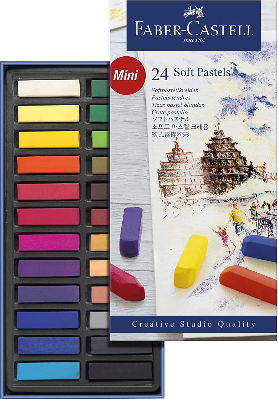 Giz Pastel Seco Curto – Creative Studios – Faber-Castell com 24 cores – Ref 128224