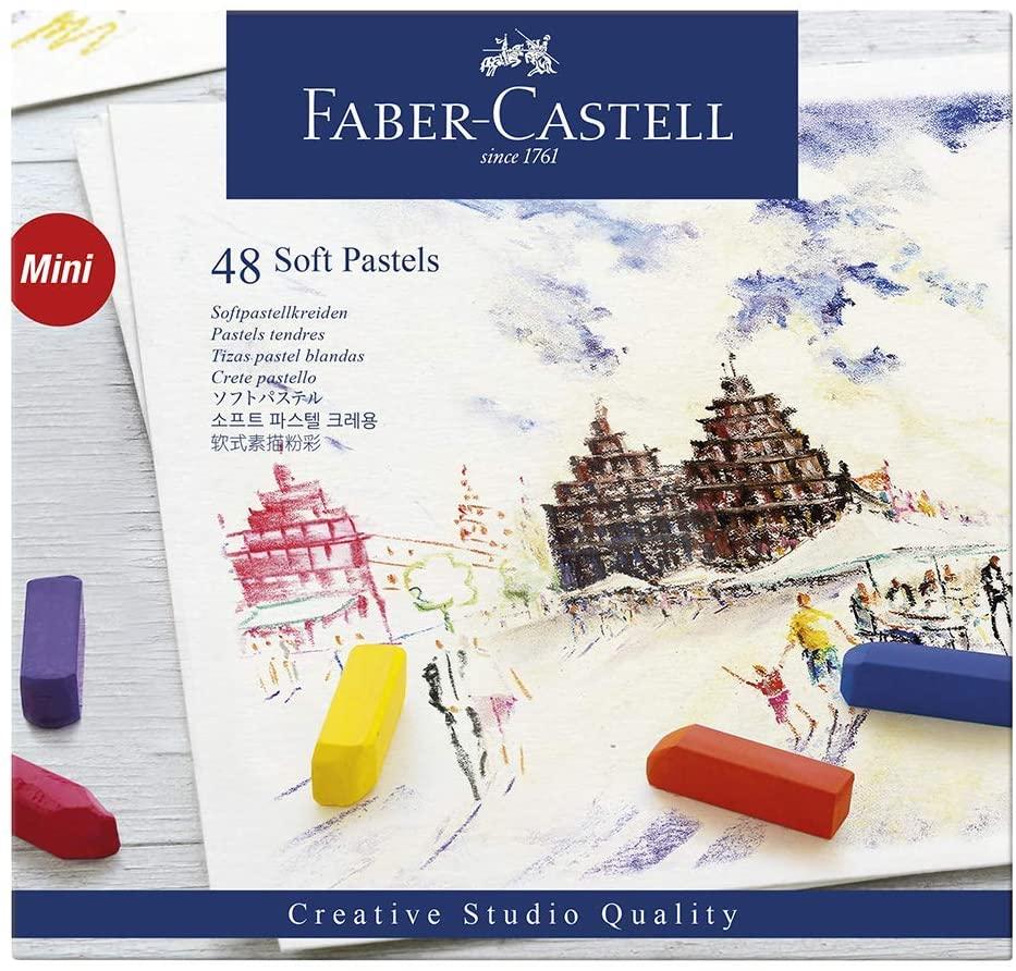Giz Pastel Seco Curto – Creative Studios – Faber-Castell com 48 cores – Ref 128248