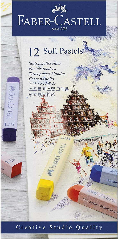 Giz Pastel Seco Longo – Creative Studios – Faber-Castell com 12 cores – Ref 128312