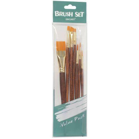 Kit de Pincel para Pintura Artística Sinoart c/ 7 unidades ref. SFB0275