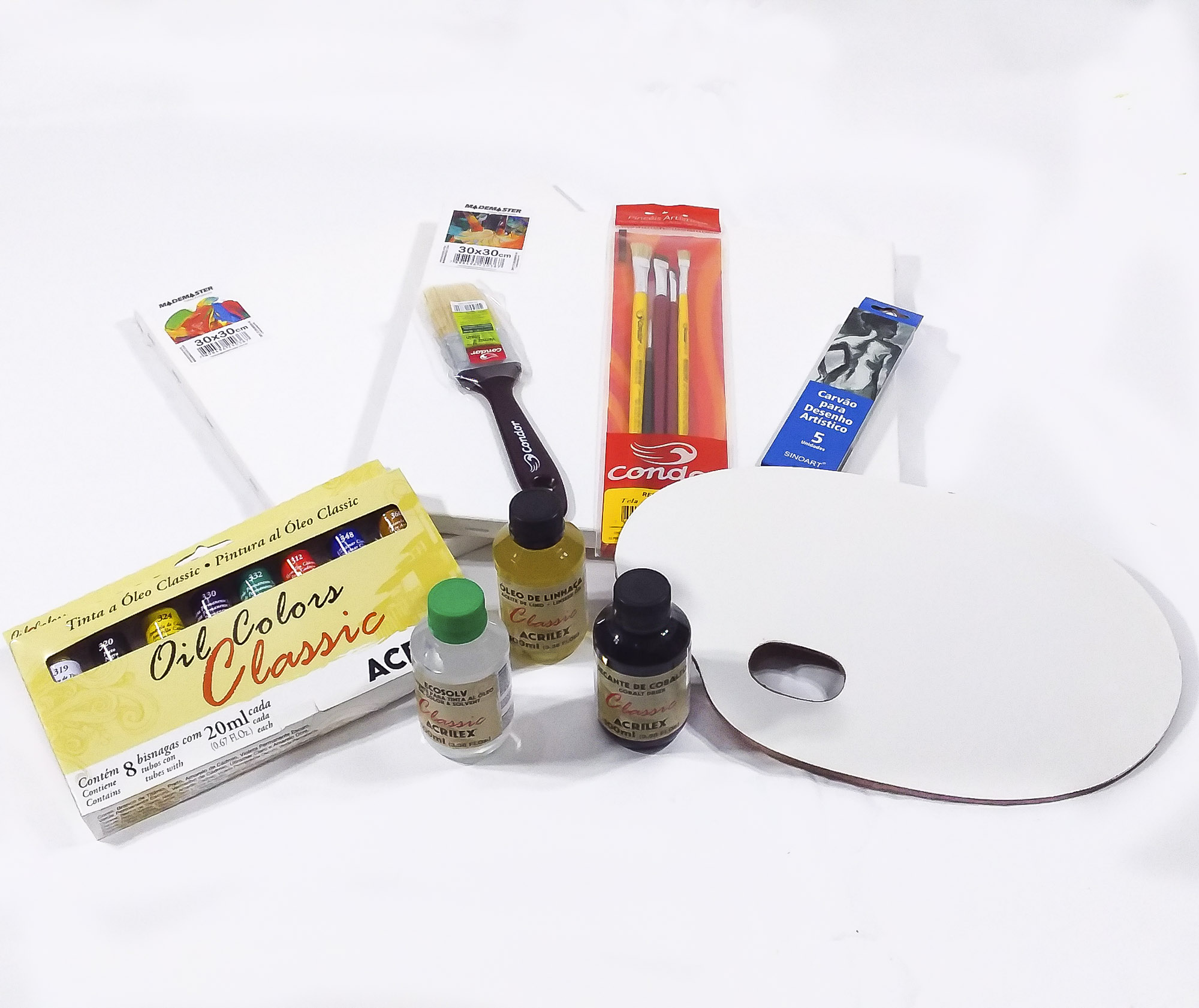 Kit óleo iniciante - 2 telas 30x30