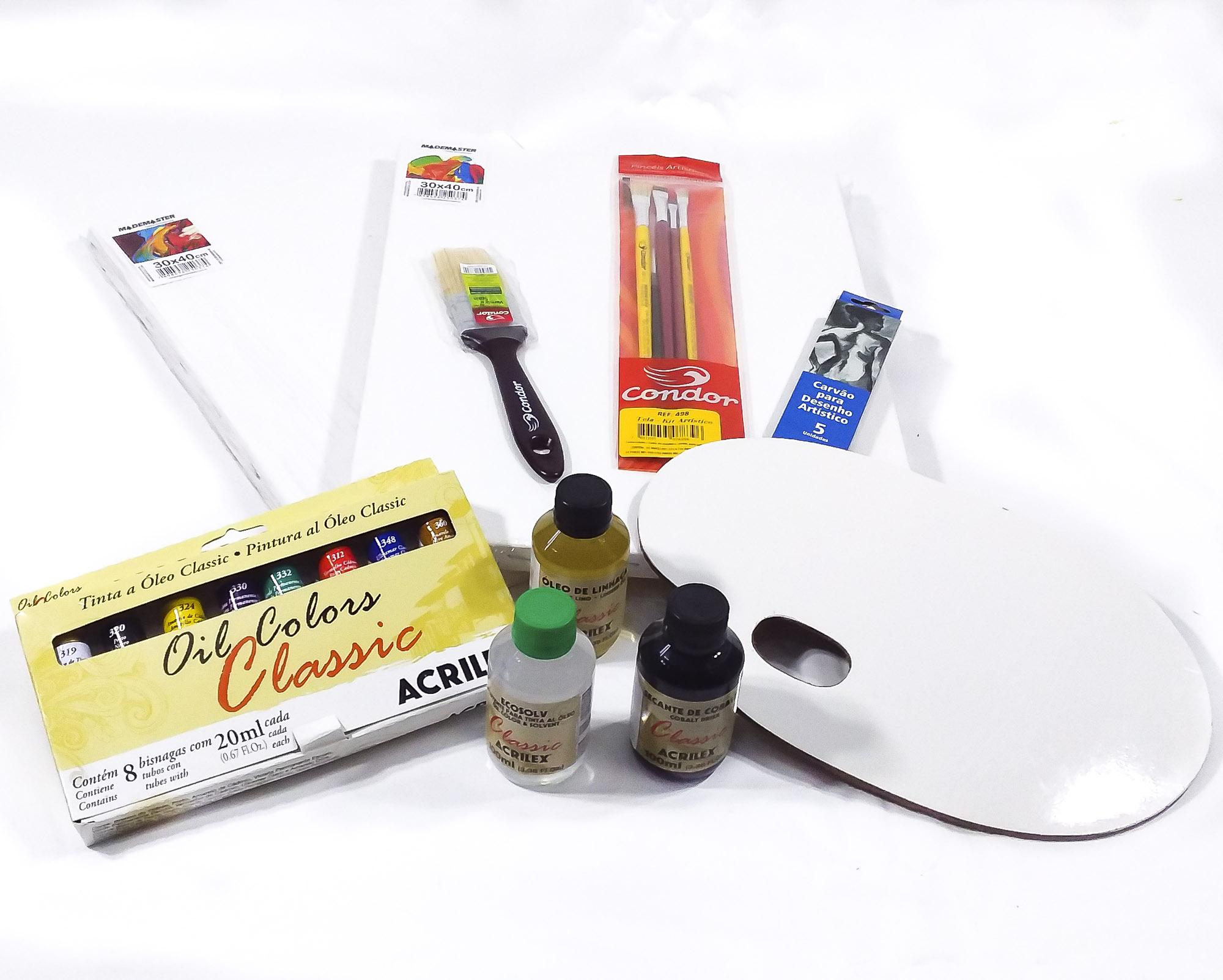 Kit óleo iniciante - 2 telas 30x40