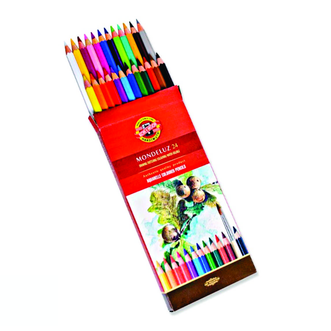Lápis de Cor Aquarelável Mondeluz 24 Cores Koh-I-Noor 3718