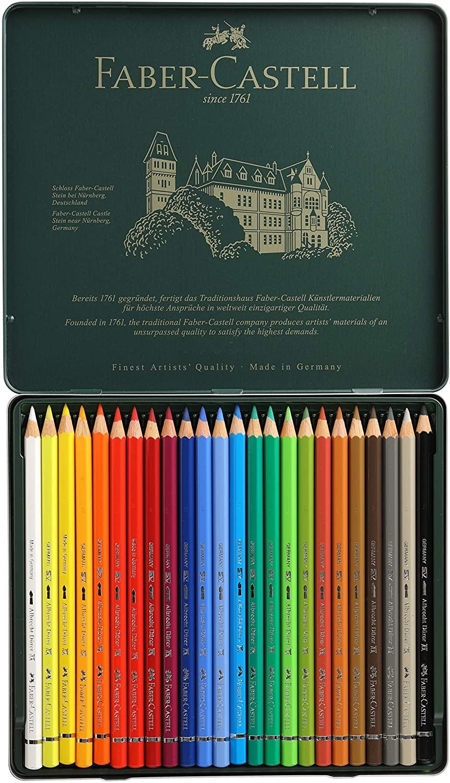 Lápis Faber-Castell Albrecht Durer Aquarelável - Estojo Metálico com 24 Cores - Ref 117524