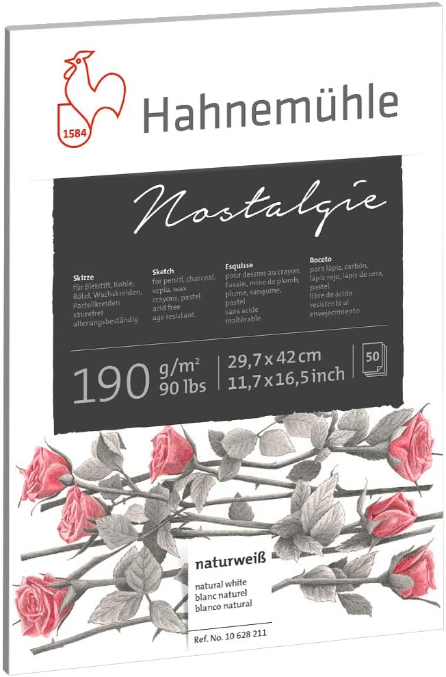 Papel para Desenho Nostalgie A3 90 g/m² 50 fls Hahnemuhle