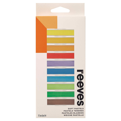 Pastel Seco Reeves 12 Cores ref. 8791125