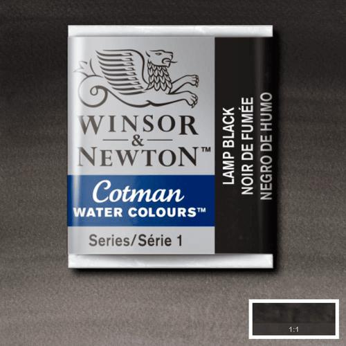 Tinta Aquarela em Pastilha Cotman Winsor & Newton Black Lamp 337