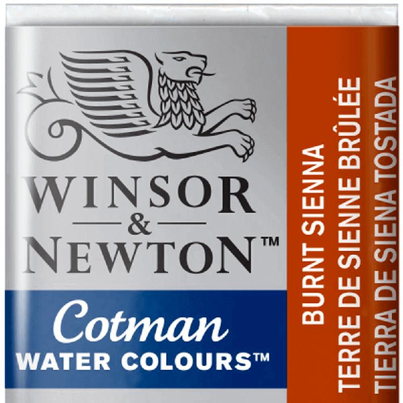 Tinta Aquarela em Pastilha Cotman Winsor & Newton Burnt Sienna 074