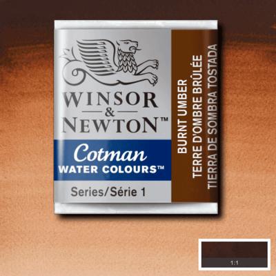 Tinta Aquarela em Pastilha Cotman Winsor & Newton Burnt Umber 076