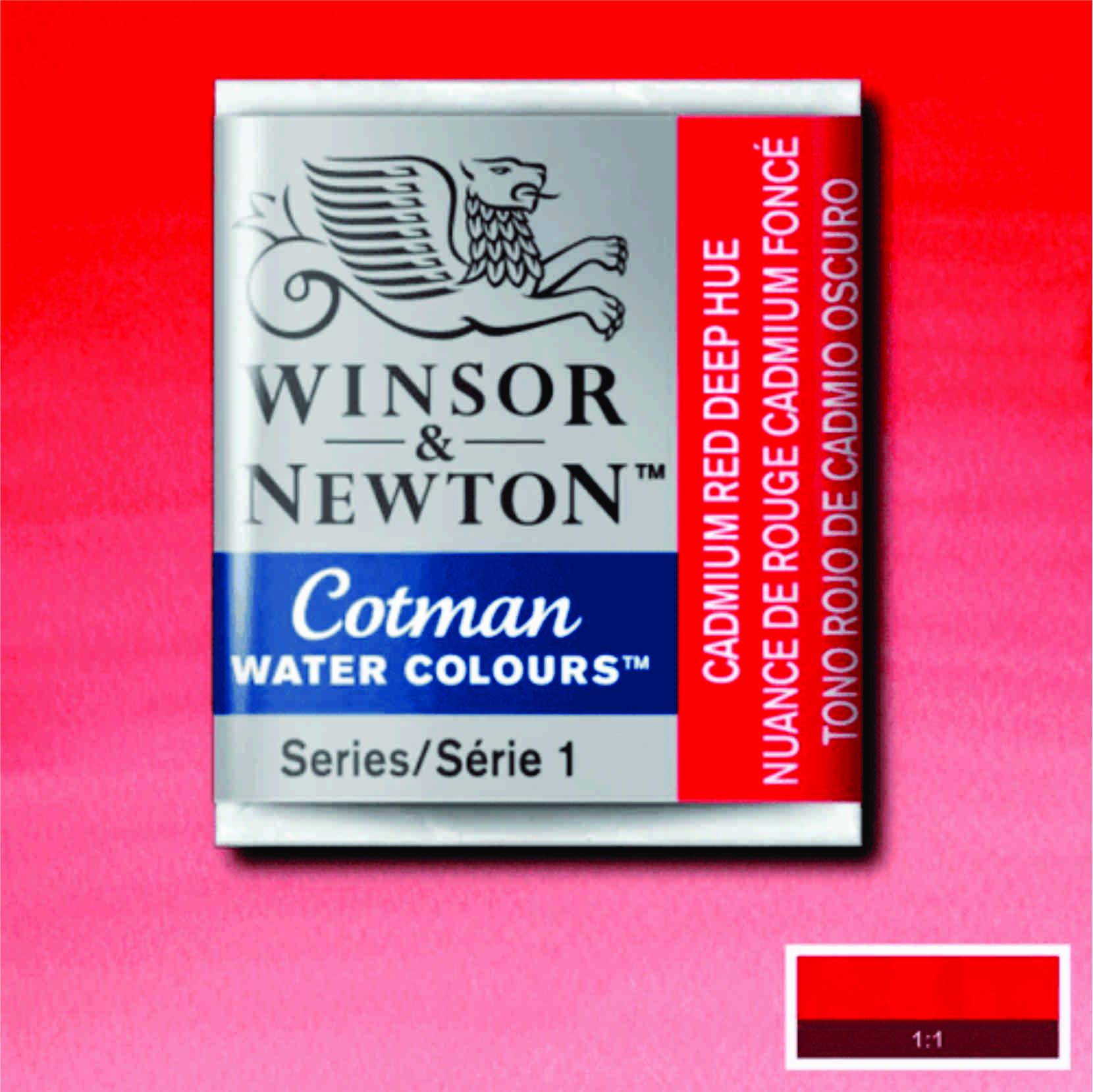 Tinta Aquarela em Pastilha Cotman Winsor & Newton Cadmium Red Deep Hue 098