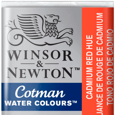 Tinta Aquarela em Pastilha Cotman Winsor & Newton Cadmium Red Hue 095