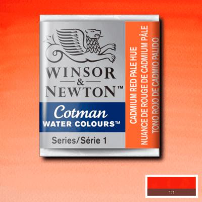 Tinta Aquarela em Pastilha Cotman Winsor & Newton Cadmium Red Pale Hue 103