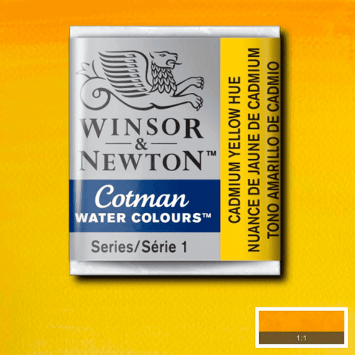 Tinta Aquarela em Pastilha Cotman Winsor & Newton Cadmium Yellow Hue 109