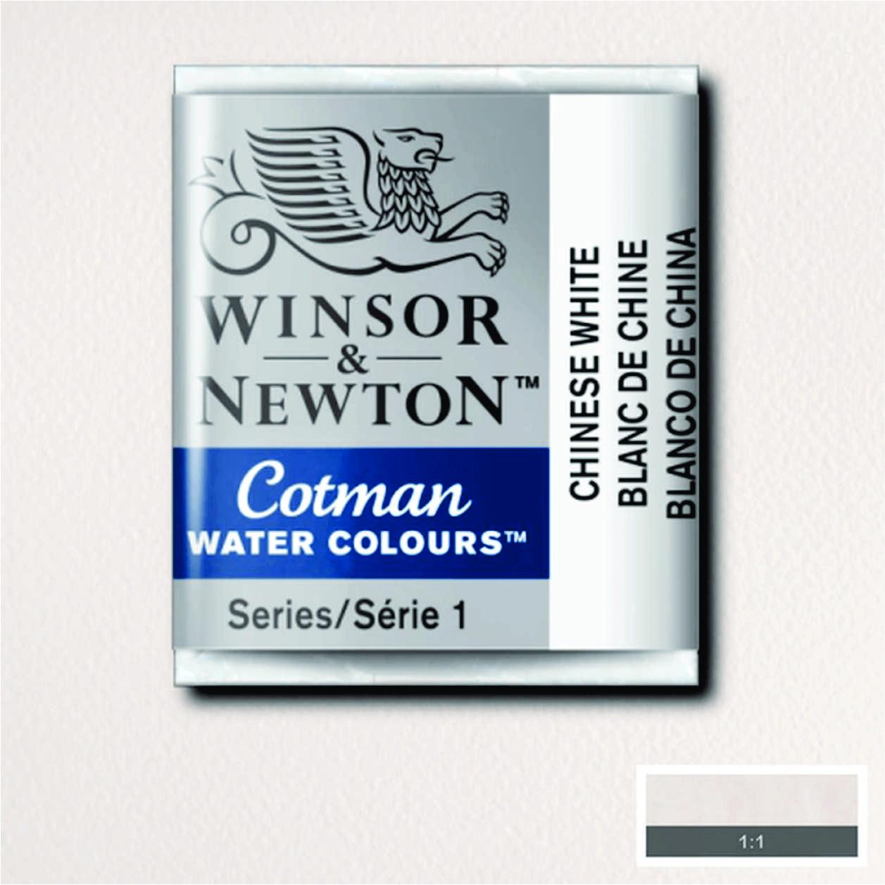Tinta Aquarela em Pastilha Cotman Winsor & Newton Chinese White 150