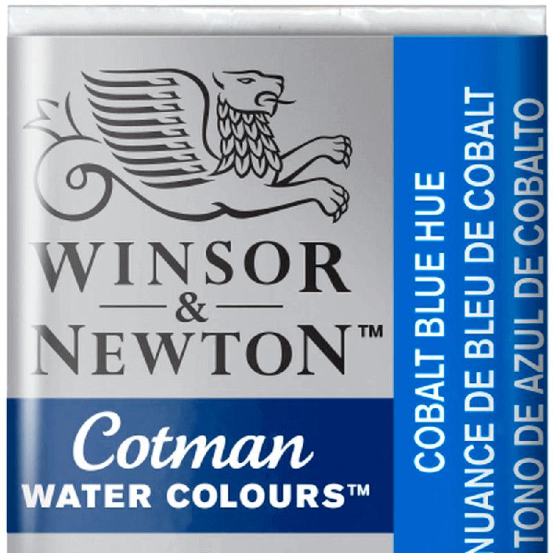 Tinta Aquarela em Pastilha Cotman Winsor & Newton Cobalt Blue Hue 179