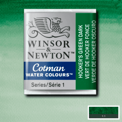 Tinta Aquarela em Pastilha Cotman Winsor & Newton Hook Green Dark 312