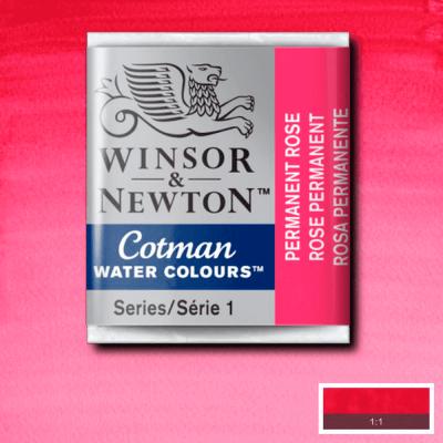 Tinta Aquarela em Pastilha Cotman Winsor & Newton Permanent Rose 502