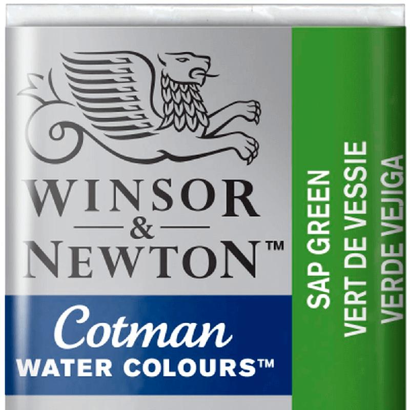 Tinta Aquarela em Pastilha Cotman Winsor & Newton Sap Green 599