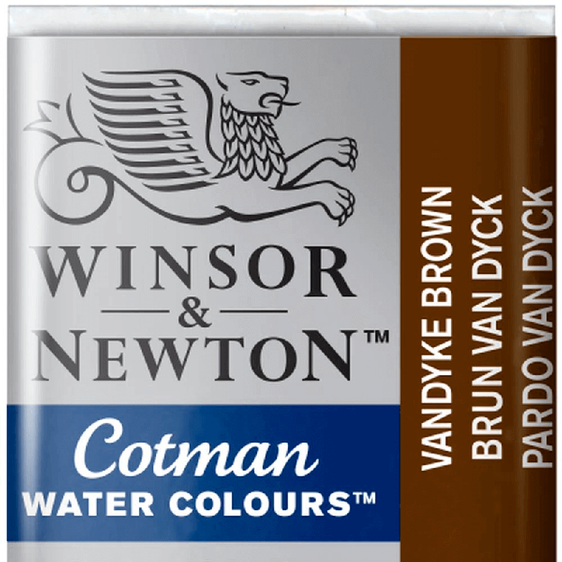 Tinta Aquarela em Pastilha Cotman Winsor & Newton Vandyke Brown 676