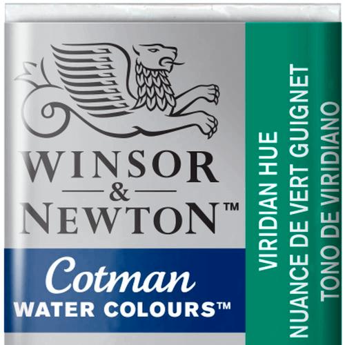 Tinta Aquarela em Pastilha Cotman Winsor & Newton Viridian Hue 696