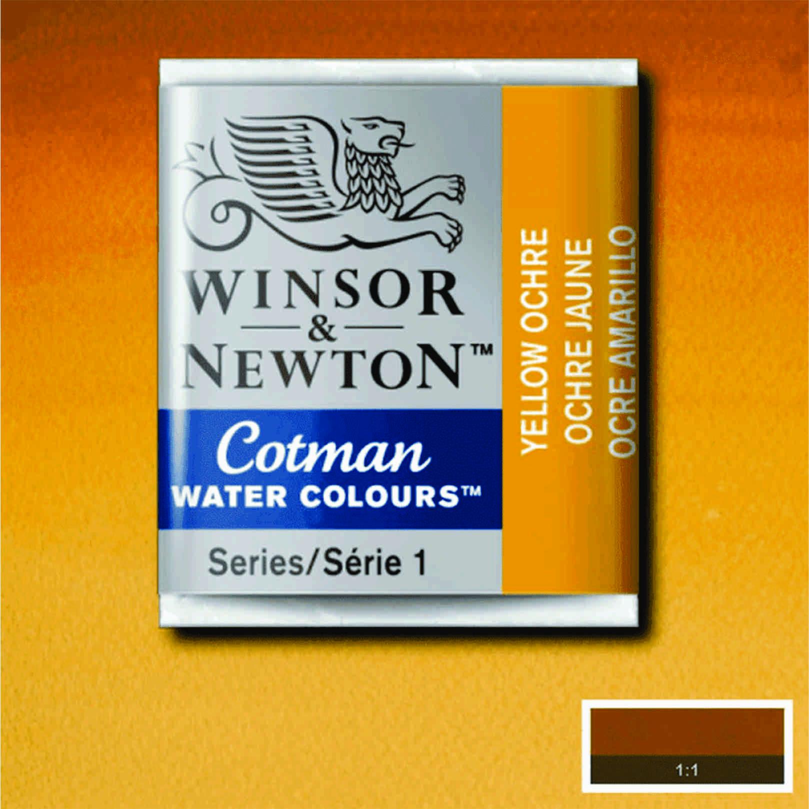Tinta Aquarela em Pastilha Cotman Winsor & Newton Yellow Ochre 744