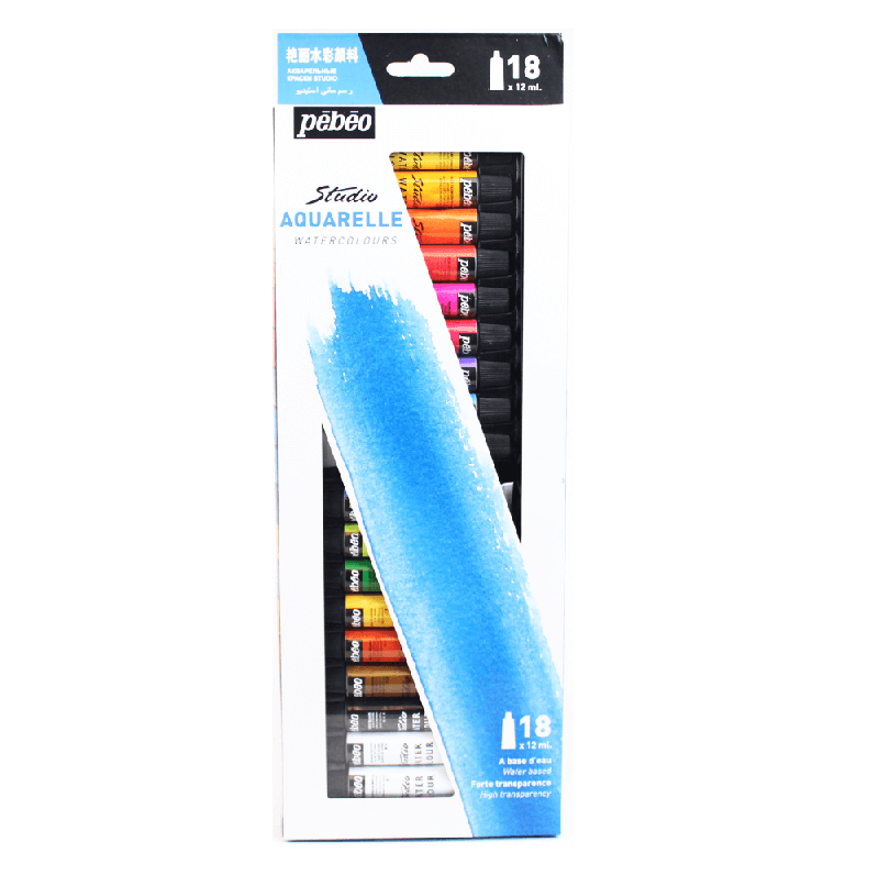 Tinta Aquarela C/18 cores 12ml Pébéo ref. 668410