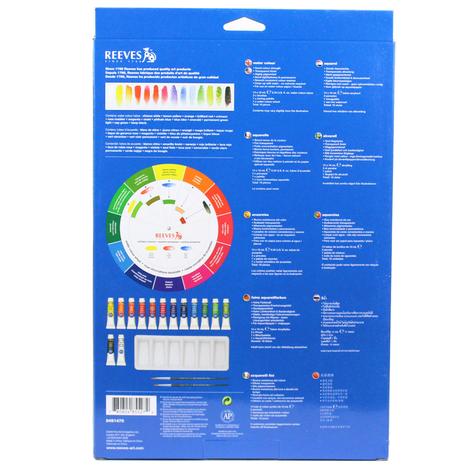 Tinta Aquarela Reeves Kit Color Wheel c/ 18 peças ref. 8491470