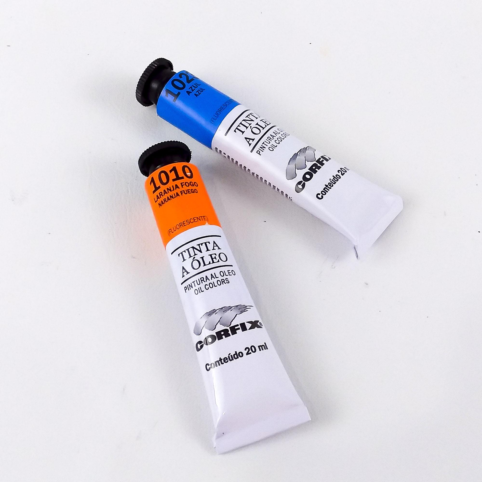 Tinta Óleo Corfix 20ml fluorescente